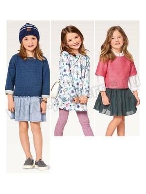 Выкройка Burda №9351 — Платье, Пуловер