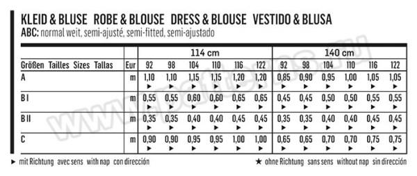 Выкройка Burda №9360 — Платье, Блузка