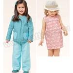 Выкройка Burda №9377 — Комплект: платье, пуловер, брюки