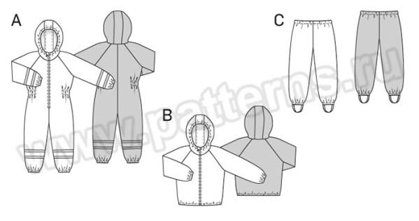 Выкройка Burda №9378 — Комбинезон, Куртка, Рейтузы