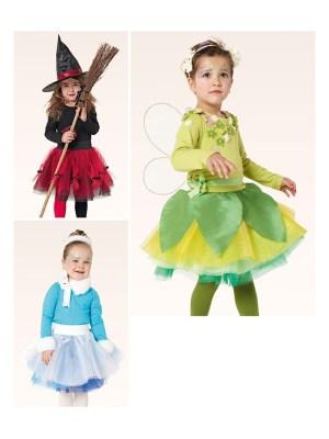 Выкройка Burda  2371 — Карнавальные костюмы: Ведьма, Принцесса льда, Эльф