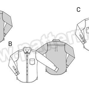 Выкройка Burda №6874 — Мужская рубашка