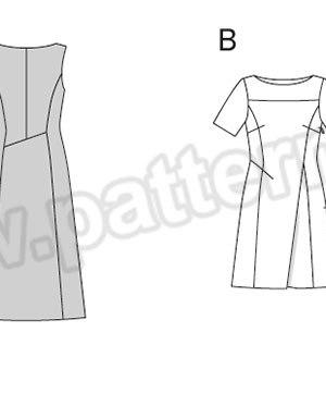 Выкройка Burda №6877 — Платье
