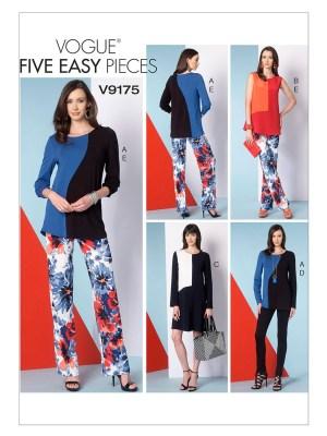 Выкройка Vogue №9175 — Базовый комплект: топ, платье, брюки
