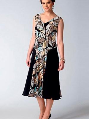 Выкройка Vogue  1391 — Платье с накидкой от Today's Fit by Sandra Betzina