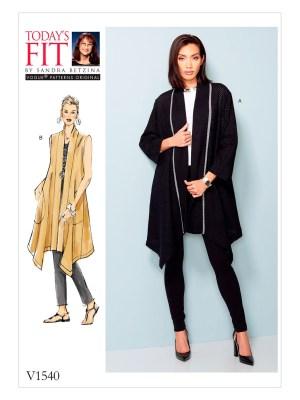 Выкройка Vogue №1540 — Жакет, жилет от Today's Fit by Sandra Betzina