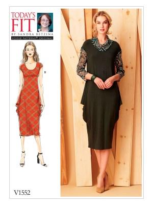 Выкройка Vogue  1552 — Платье с драпировкой от Today's Fit by Sandra Betzina