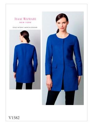 Выкройка Vogue №1582 — Жакет от Isaac Mizrahi