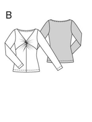 Выкройка Burda  6911 — Тот, платье с драпировкой спереди