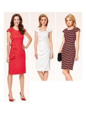Выкройка Burda  6920 — Платье с приспущенными плечами