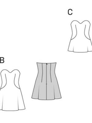 Выкройка Burda  6930 — Нарядные платье и блузка