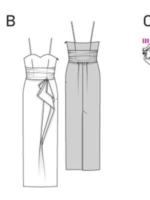 Выкройка Burda  6939 — Вечернее платье-бюстье