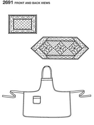 Выкройка Simplicity №2691 — Фартук, подставки для столовых приборов
