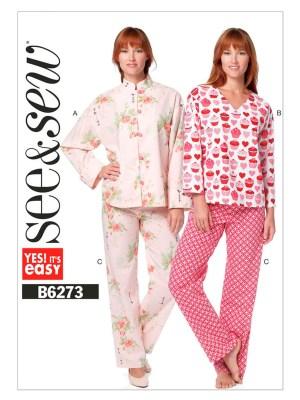 Выкройка Butterick №6273 — Женская пижама в восточном стиле