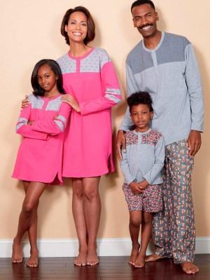 Выкройка Butterick  6531 — Домашняя одежда для всей семьи