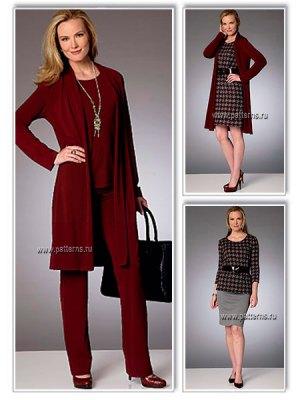 Выкройка Butterick  6258 — Базовая капсула:  платье, топ, юбка, брюки, кардиган
