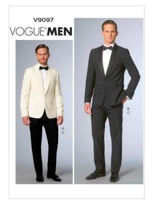 Выкройка Vogue  9097 — Мужской костюм: смокинг и брюки