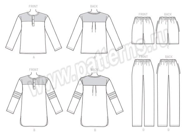 Выкройка Butterick — Домашняя одежда - B6531