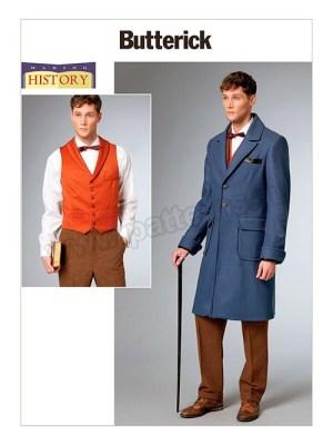 Выкройка Butterick — Исторический мужской костюм: Пальто, Жилет - B6502