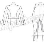 Выкройка Butterick — Исторический женский костюм (жакет и бриджи) - B6433