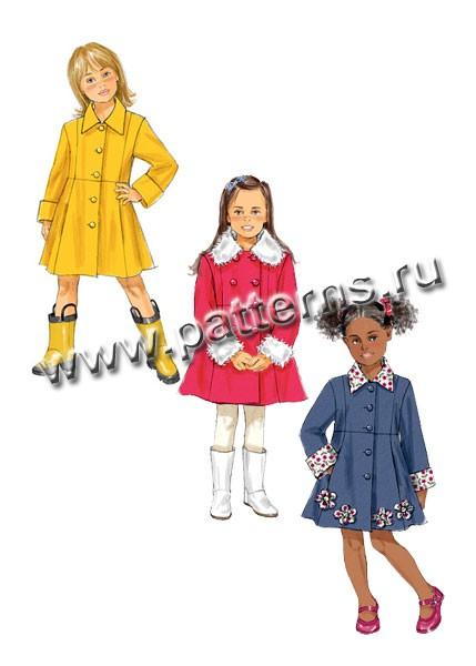 Выкройка Butterick — Пальто для девочки - B5946