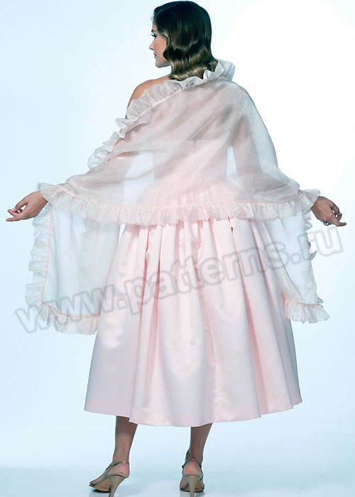 Выкройка Butterick — Ретро 1950: Вечернее платье и Палантин - B6454