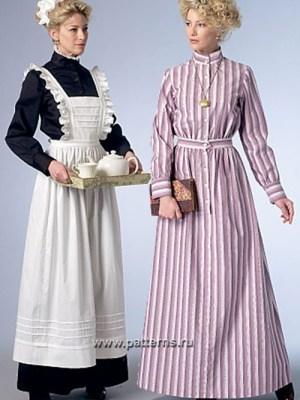 Выкройка Butterick — Женский исторический костюм - B6229