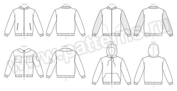 Выкройка McCall's — Куртка-бомбер - M7637