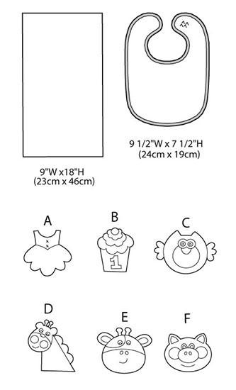 Выкройка McCall's — Нагрудник, Полотенце для малыша - M6478