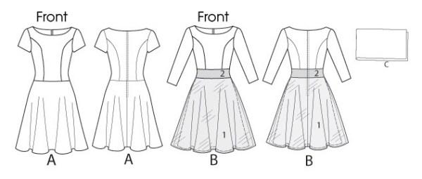 Выкройка McCall's — Платье - M6599 ()