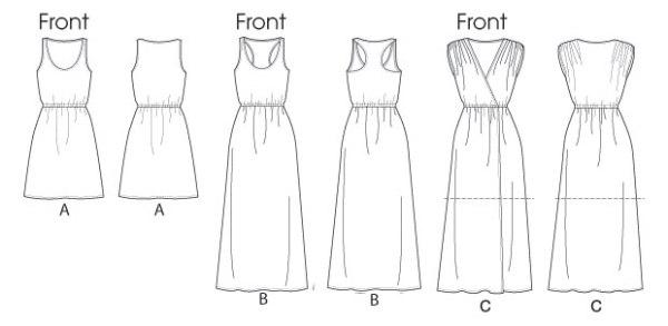 Выкройка McCall's — Платье летнее - M6744 ()