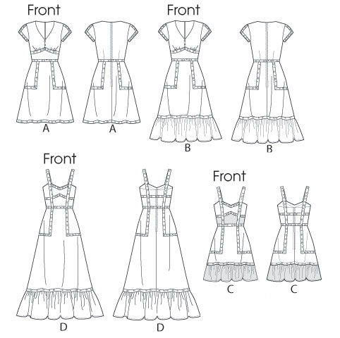 Выкройка McCall's — Платье летнее - M6749 ()