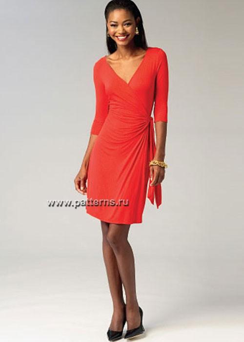 Выкройка McCall's — Платье с поясом - M6884 ()