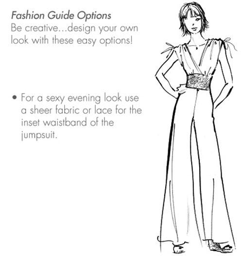 Выкройка McCall's — Платье широким поясом, Комбинезон - M6760