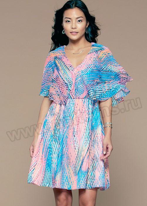 Выкройка McCall's — Платье V-образным вырезом и рюшами - M7566 ()