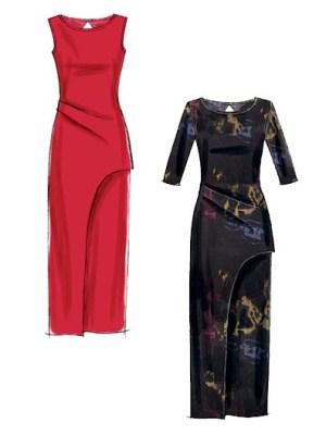 Выкройка McCall's — Платье в пол с боковой складкой - M6791 ()