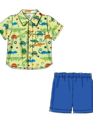 Выкройка McCall's — Рубашка, Брючки, Шорты, Курточка, Шапка - M6779