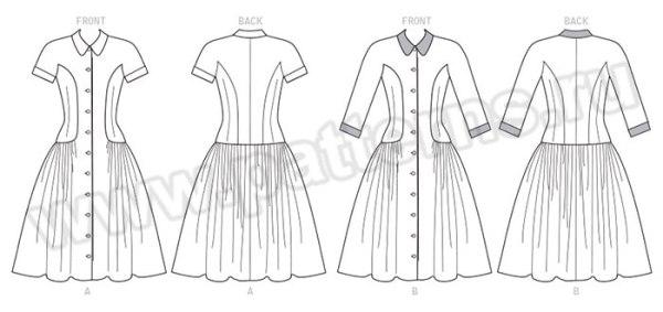 Выкройка McCall's — Стиль 1955: Платье с заниженной талией - M7625