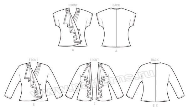 Выкройка McCall's — Жакет, блузка - M7760