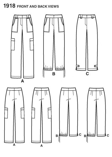 Выкройка Simplicity — Брюки, Капри - S1918