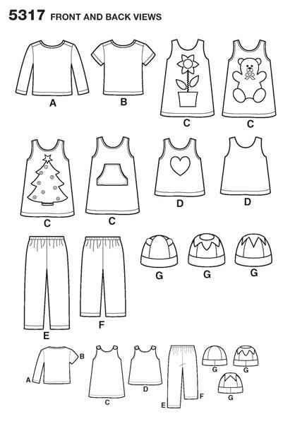Выкройка Simplicity — Детский комплект - S5317