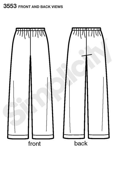 Выкройка Simplicity — Домашние штаны - S3553