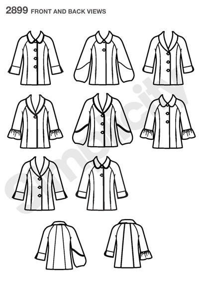 Выкройка Simplicity — Куртка - S2899 ()