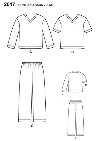 Выкройка Simplicity — Пижама - S2047