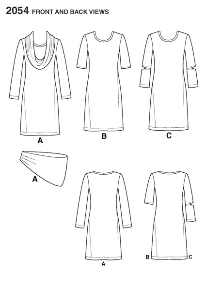 Выкройка Simplicity — Платье - S2054