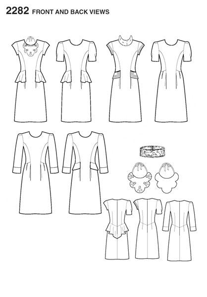Выкройка Simplicity — Платье - S2282 ()