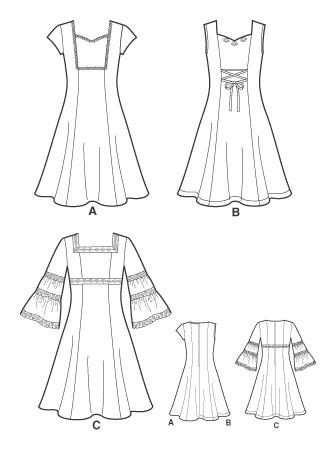 Выкройка Simplicity — Платье - S3902