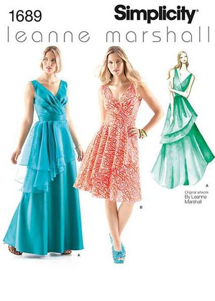 Выкройка Simplicity — Платье с асимметричной баской - S1689 ()
