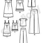 Выкройка Simplicity — Платье, Топ, Брюки - S2373 ()