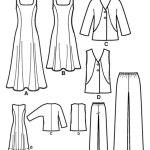 Выкройка Simplicity — Платье, Жилет, Жакет, Брюки - S2539 ()